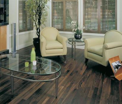 "American Black Walnut Mirage Classic 3/4""Solid Wood Floor: Idaho Stain Lacasse Fine Wood Products Sudbury Ontario"