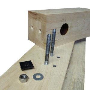 Newel Post Hardware for DIY installation